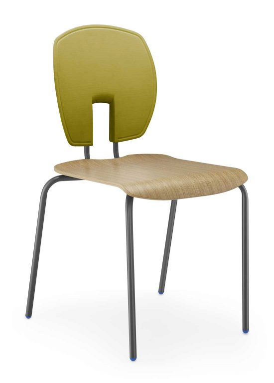 SE Curve Chair with Polished Wood Seat