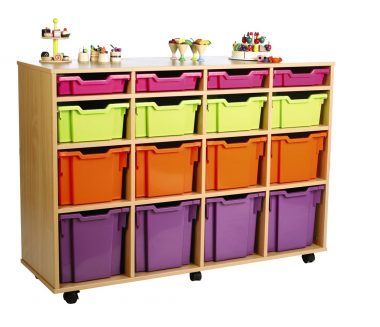 16 Assorted Tray Storage Unit