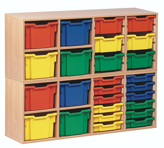 Stackable Tray Storage Units