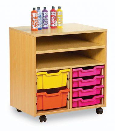 Mobile Combination Tray / Shelf Units