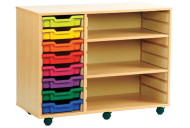 Mobile Combination Tray and& Shelf Units