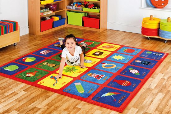 Alphabet Square Carpet