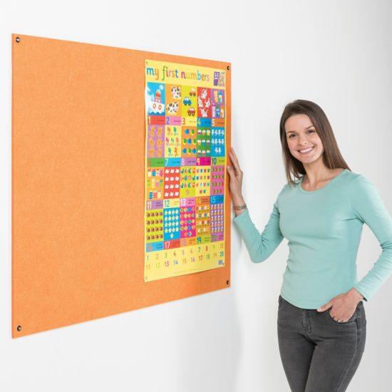 Unframed Fire Retardant Eco-Colour Noticeboard