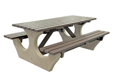 Big Bench with Recycled Plastic Top