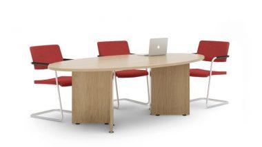 Elliptical Arrowhead Frame Meeting Table