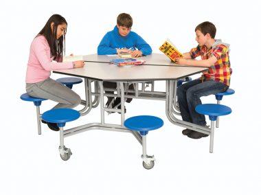 Circular and Octagonal Mobile Folding Seating Units
