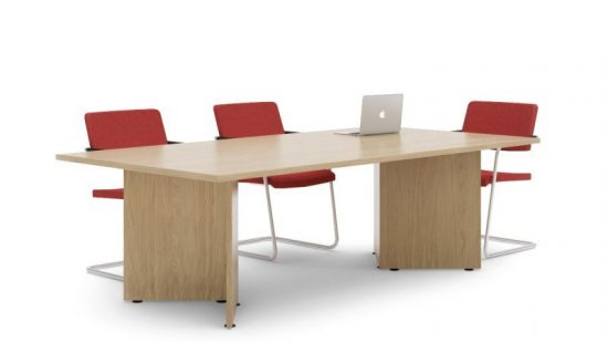 Rectangular Arrowhead Frame Meeting Table