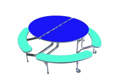 Oval Mobile Folding Table Seating Unit