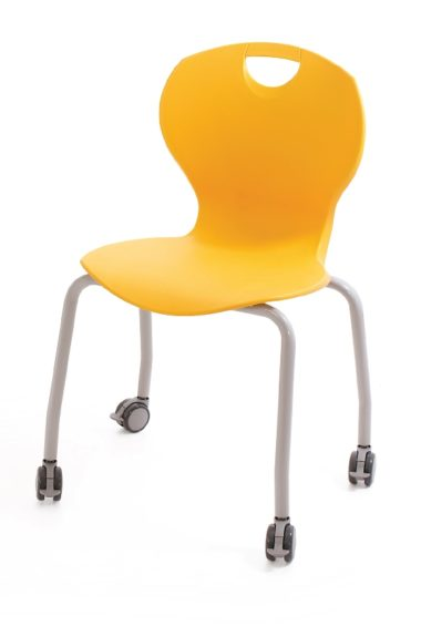 EVO Four Leg Chair on Castors