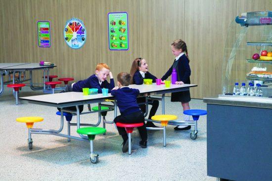 8 Seater Rectangular Mobile Folding Table Seating Unit