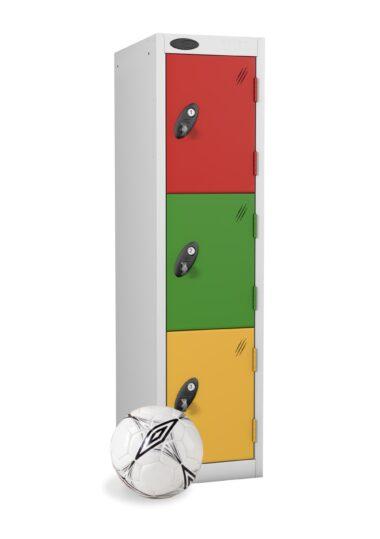 Junior Height Three Door Steel Locker