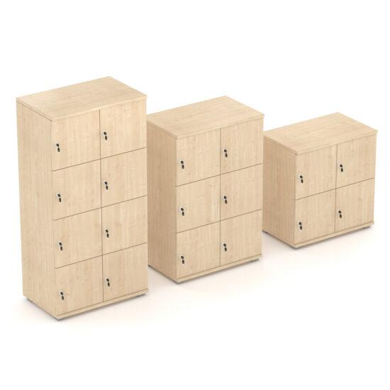Double Width Wooden Lockers