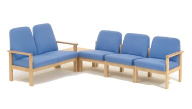 Low Back Beech Frame Reception Seating
