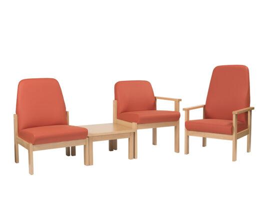 Medium Back Beech Frame Reception Seating