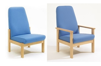 Blue High back chairs