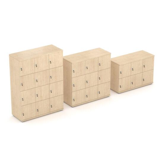 Triple Width Wooden Lockers