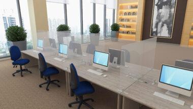 Clear Acrylic Freestanding Desktop Screens