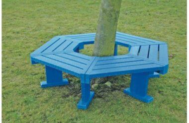 Hexagonal Recycled Plastic Tree Seat