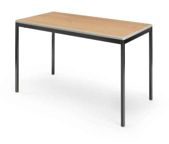 classroom tables with moulded plastic edge
