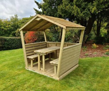 Outdoor Timber Seating Pod