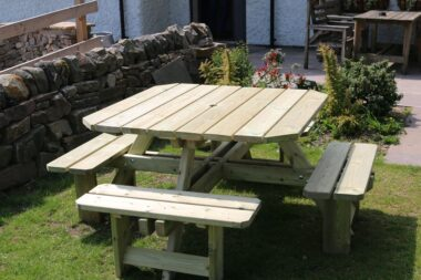 Square Timber Picnic Bench